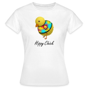 Hippy Chick Funny Cartoon Chicken T-Shirt - Women's T-Shirt