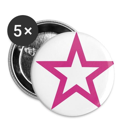 Stern - Buttons klein 25 mm