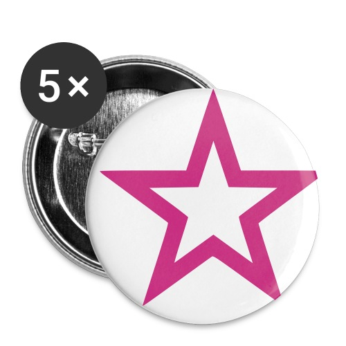 Stern - Buttons klein 25 mm (5er Pack)