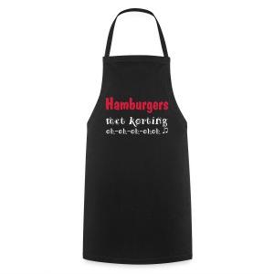 Hamburgers met Korting Schort - Keukenschort