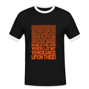 Ezekiel 25:17 - Men's Ringer Shirt