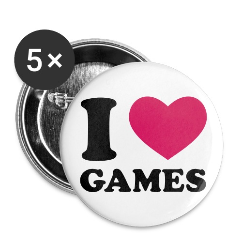 Love Games - Buttons klein 25 mm (5er Pack)