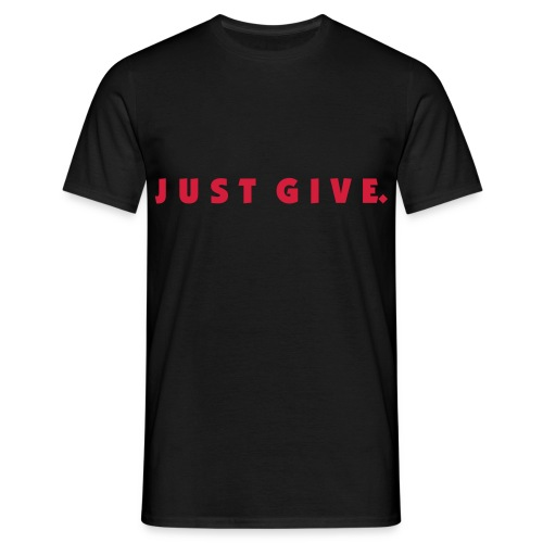 Black Just Give. Comfort Tee with Holiday Back - Men's T-Shirt