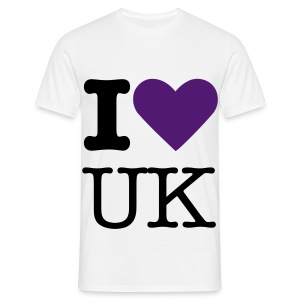 Purple I Love UK - Men's T-Shirt