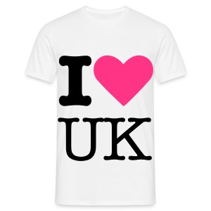Bright Pink I Love UK - Men's T-Shirt