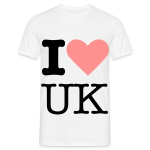 Pink I Love UK - Men's T-Shirt