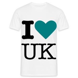 Sky Blue I Love UK - Men's T-Shirt