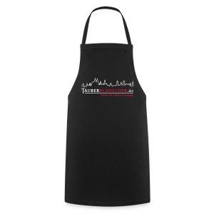 Grillking-Schürze Planscher-Logo (weiß-rot) - Kochschürze