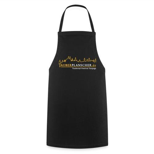Grillking-Schürze Planscher-Logo (gelb-weiß) - Kochschürze