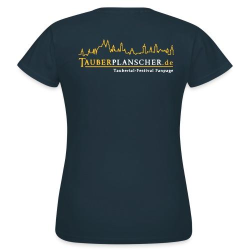 Damen-T-Shirt (Logo gelb-weiß) - Frauen T-Shirt