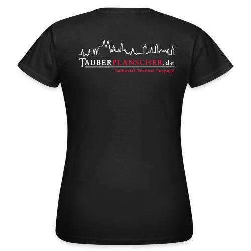 Damen-T-Shirt (Logo weiß-rot) - Frauen T-Shirt