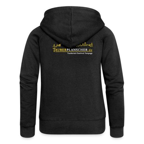 Rocky Kapuzenjacke Girly (Logo gelb-weiß) - Frauen Premium Kapuzenjacke