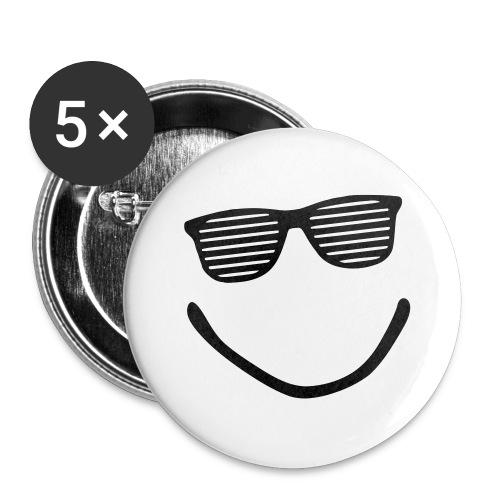 SmileyPins (5 pakk) - Stor pin 56 mm (5-er pakke)