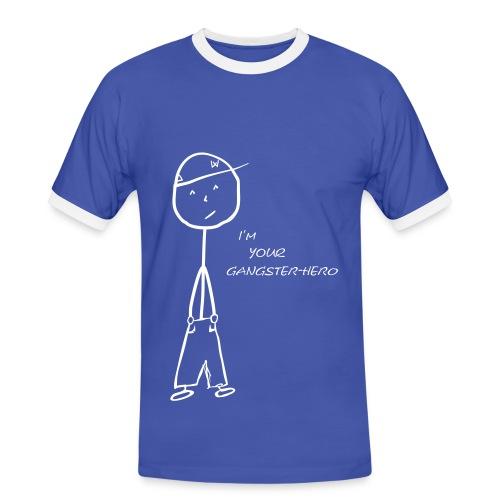 I´m your Gangster-Hero - Herren Kontrastshirt - Männer Kontrast-T-Shirt