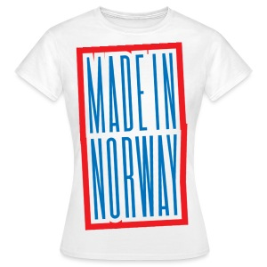 Made in Norway - T-skjorte for kvinner