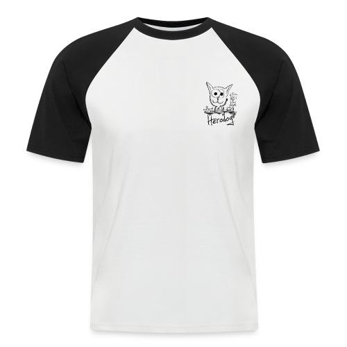 Herodog - Kurzärmeliges Baseballshirt für Männer - Männer Baseball-T-Shirt
