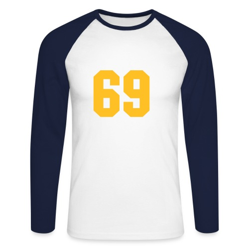69er T-Shirt - Men's Long Sleeve Baseball T-Shirt