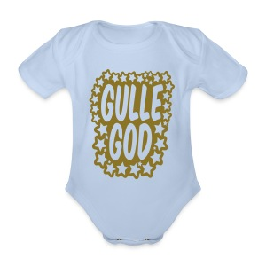 «Gulle god» gull metallic folietrykk - Babybody