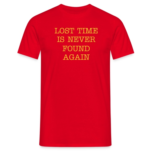Lost Time - Red - Men's T-Shirt