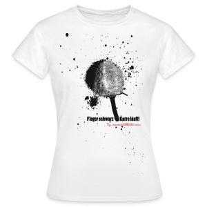 Finger schwarz - Karre läuft - Frauen T-Shirt