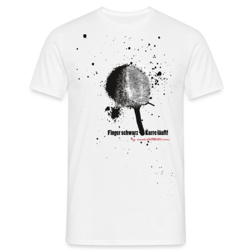 Finger schwarz - Karre läuft - Männer T-Shirt