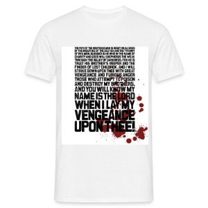 Pulp Fiction: Bloody Ezekiel 25:17 - Men's T-Shirt