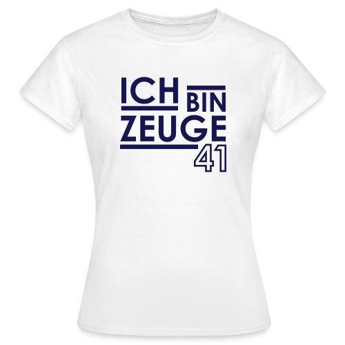 Nowitzki Zeuge Shirt white/royalblue WOMEN - Frauen T-Shirt