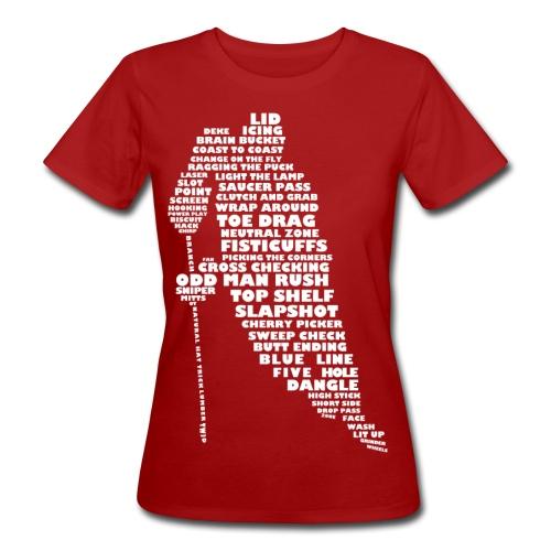 Hockey Player Typography Women's Organic T-Shirt (white print) - Women's Organic T-Shirt
