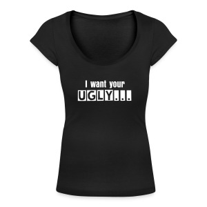 ugly tee - Women's Scoop Neck T-Shirt