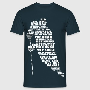 'Language of Hockey' Men's T-Shirt (white print) - T-shirt herr