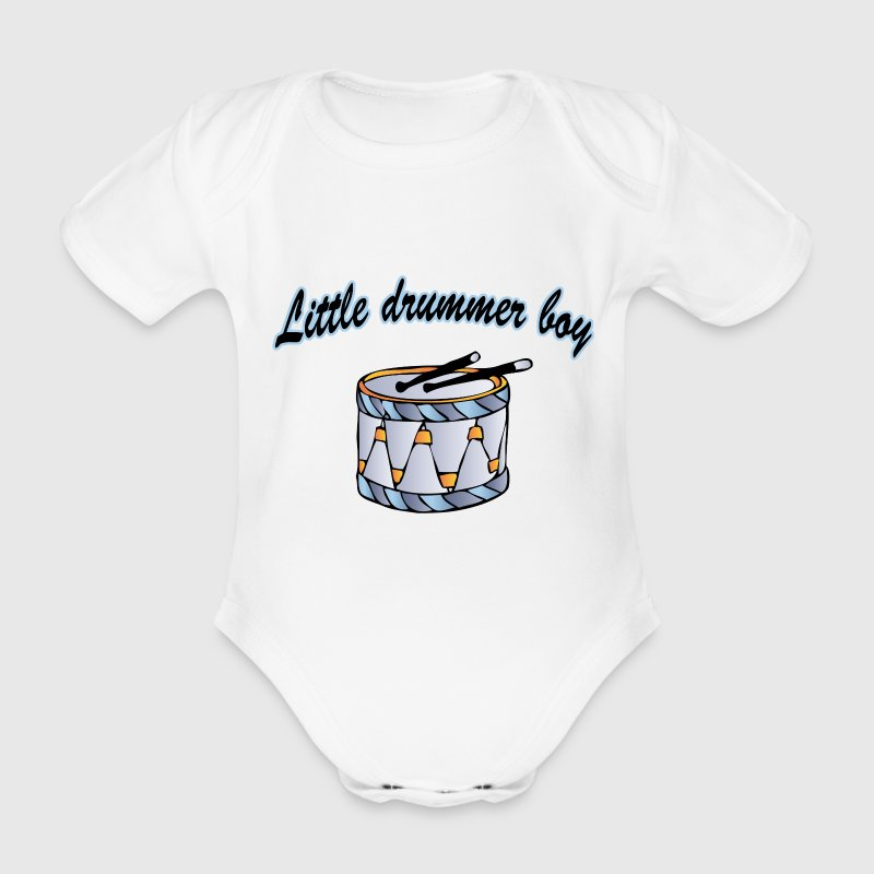 little drummer boy Baby Body - Organic Short-sleeved Baby Bodysuit