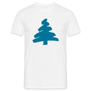 Choinka, choinka, niebieska choinka - Koszulka męska