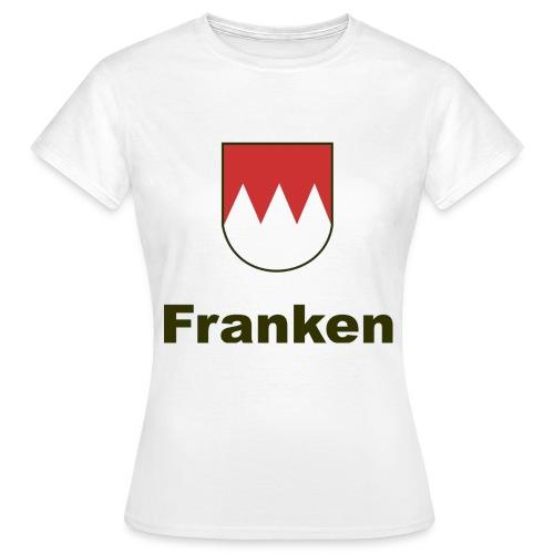 Fänkisch 2-seitig         Schrift:Schwarz/Bunt - Frauen T-Shirt