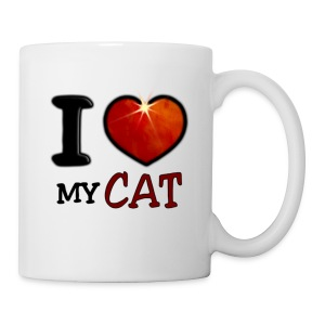 Tasse - I,I love,Love,cat,chat,chatte,coeur,cup,heart,my cat,tasse
