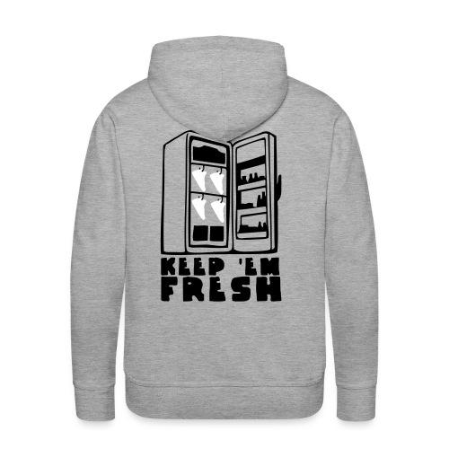 KeepEmFresh KaPu grey-black-white - Männer Premium Hoodie