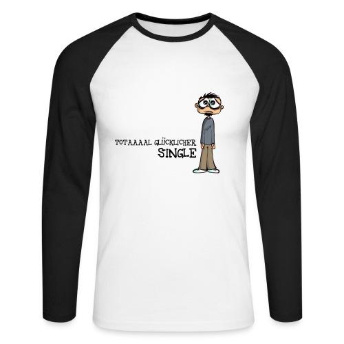 Glücklicher Single - Männer Baseballshirt langarm