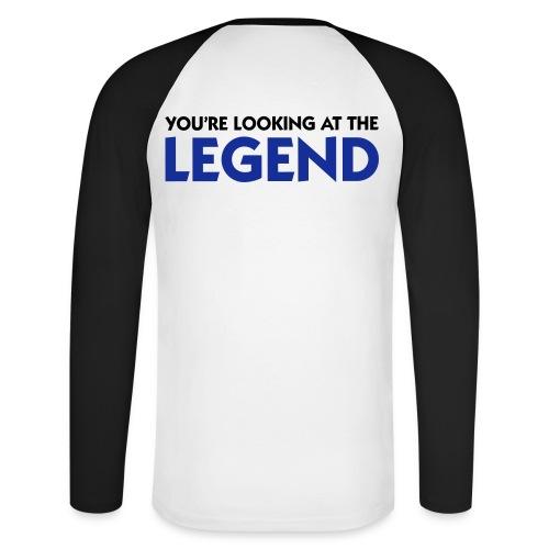 legend - Langærmet herre-baseballshirt