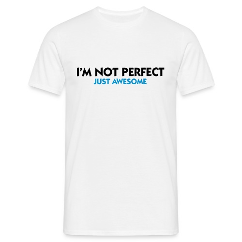 I'm not perfect from LoLaksen - T-skjorte for menn