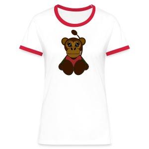 T shirt femme singe - T-shirt contrasté Femme