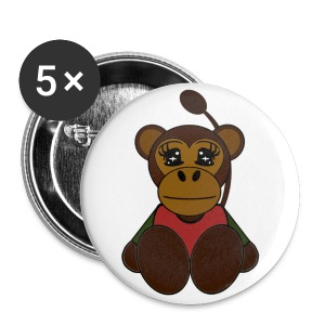 Badge singe - Badge petit 25 mm