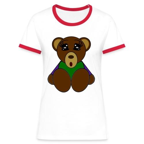 T shirt femme ours - T-shirt contrasté Femme