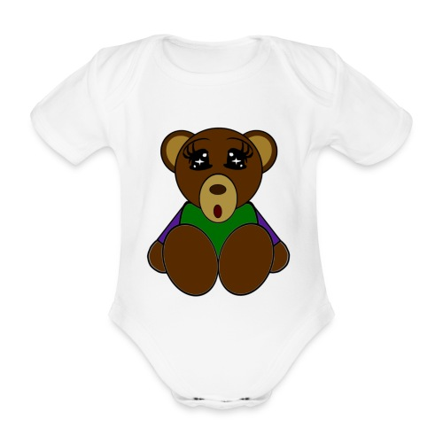 Body bébé ours - Body bébé bio manches courtes
