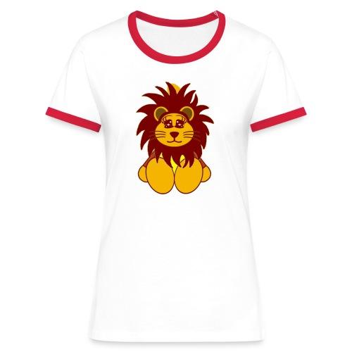 T shirt femme lion - T-shirt contrasté Femme