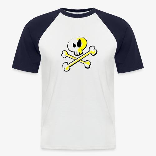 Cartoon Skull - Männer Baseball-T-Shirt