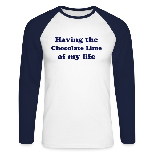 Chocolate Lime - Having the time - Men's Long Sleeve Baseball T-Shirt