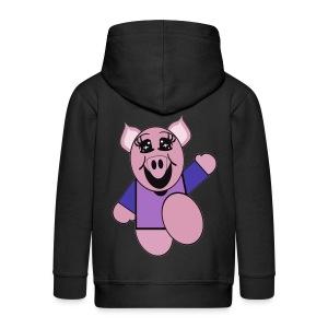 Veste capuche enfant cochon - Veste à capuche Premium Enfant