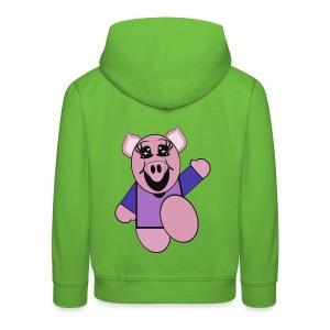 Pull capuche enfant cochon - Pull à capuche Premium Enfant