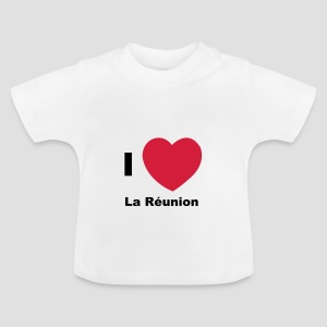 T-shirt Bébé I love Réunion - 974 - T-shirt Bébé