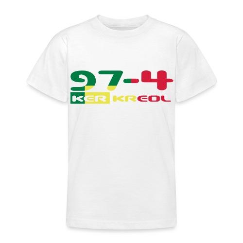 Tee shirt Ado écriture 974 Ker Kreol Rastafari - T-shirt Ado