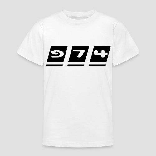 Tee shirt Ado écriture 974 - Réunion - T-shirt Ado